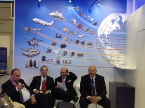 Our client TAT at the Paris Air Show featuring aviation products such as ECUs and fluid valves for heat management solutions.